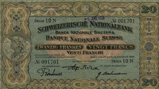 1914 bis 2017: Die 20er-Note im Wandel der Zeit