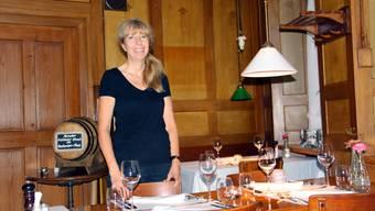 Esther Villiger aus Elfingen wirtet im Restaurant Ochsen in Oberzeihen. CM