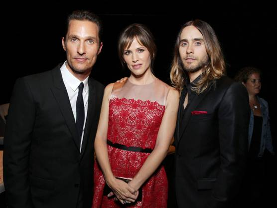 Matthew McConaughey (links) mit Co-Stars am Samstag in Toronto