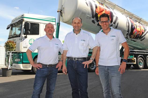 Geschäftsleitung der Bachmann AG (v. l.): René Tresch, Philipp Bachmann und Christoph Feremutsch.