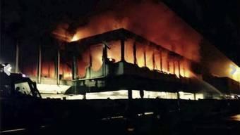 Brand im Römer Flughafen Fiumicino