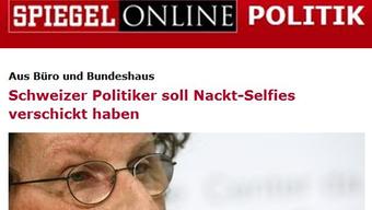 Geri Müller macht Schlagzeilen - auch im «Spiegel».