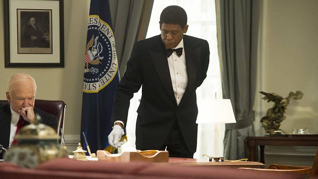 """Setzt sich für die UNO-Nachhaltigkeitsziele ein: Schauspieler Forest Whitaker (rechts) hier zu sehen im Film """"The Butler"""". (Archiv)"""