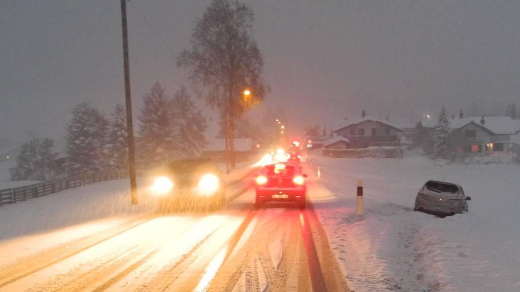 Verkehrschaos wegen des Schnees