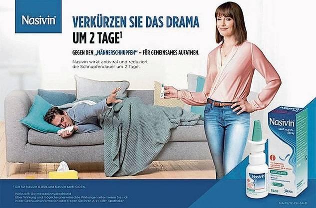 Witzig oder schon sexistisch? Aktuelle Nasenspray-Werbung.