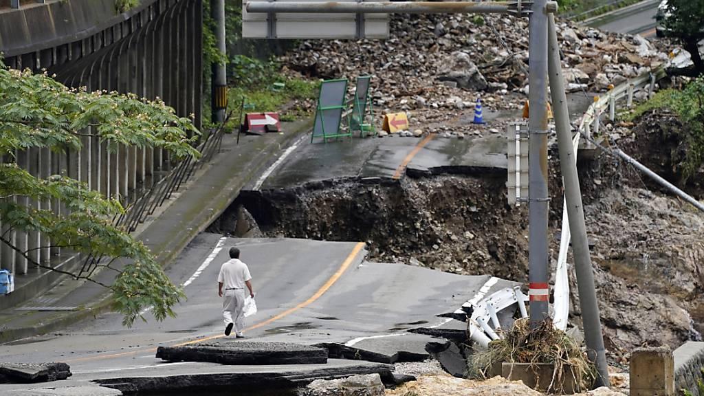 Mindestens 52 Tote bei Unwettern in Japan - Mehr Gebiete betroffen