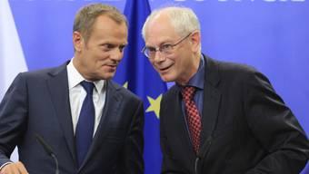 Tusk (l) wird Nachfolger von Van Rompuy (Archiv)