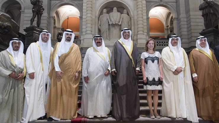 Nationalratspräsidentin Christa Markwalder (FDP) empfängt die Regierungsspitze aus Kuwait.