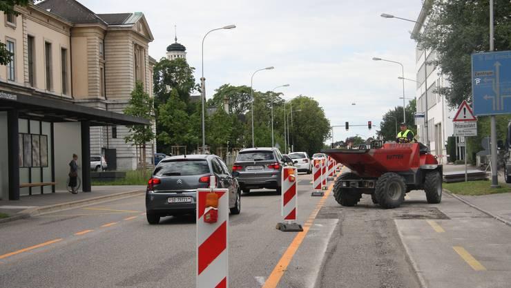 Für den Verkehr wird auf der Werkhofstrasse eng