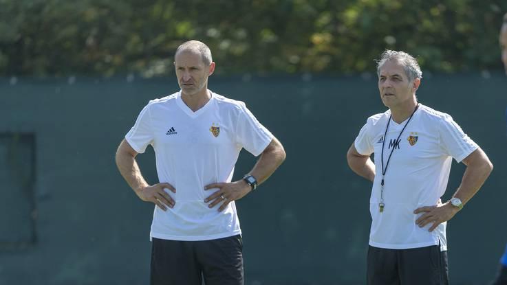 Thomas Häberli (links) verlässt das Trainerteam von Marcel Koller.