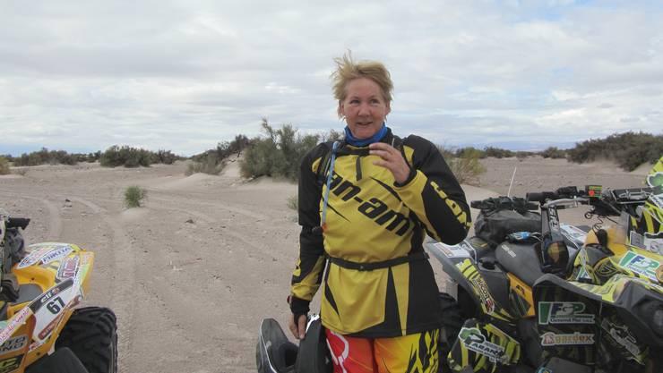 Seit einem Jahr bereitet sich Angelica Weiss für die Rallye Dakar vor – dazu gehört auch ein Fahrtraining in Argentinien.