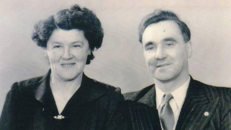 Die Gründerin der Gärtnerei, Sophie Kägi, mit ihrem Ehemann Heinrich.