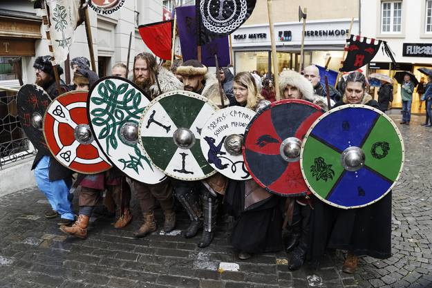 Impressionen von den Wikingern beim Mittelaltermarkt in Bremgarten.