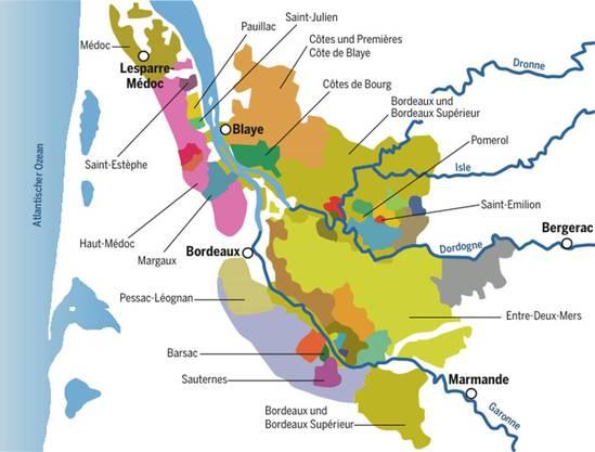 Die Region Bordeaux