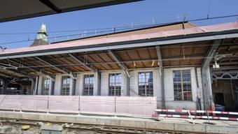 Noch ist nur eine grosse Baustelle zu sehen. Doch bald wird hier am Bahnhof ein neues Za-Zaa-Restaurant eröffnen.