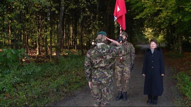 Infanterie-Ankunft in Birmensdorf