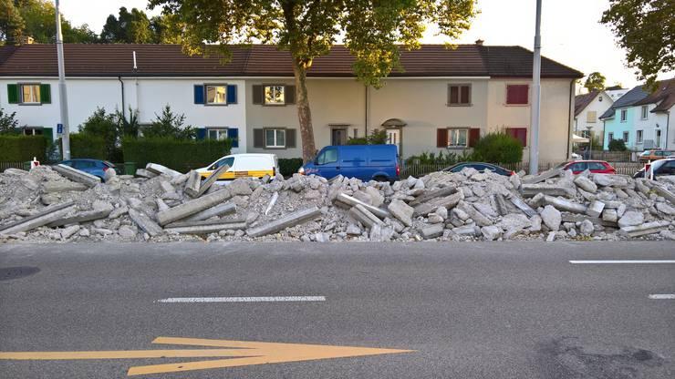 So wurden bereits einige Mittelinseln in der Zürcherstrasse zertrümmert.