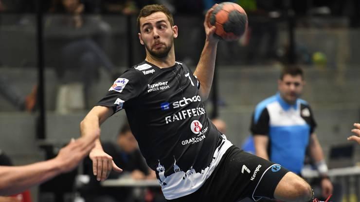 Städtli 1 mit Francesco Biffiger entscheidet auch das zweite Auswärtsspiel in Folge für sich: Mit elf Toren Unterschied sichern sich die Badener auswärts gegen Chênois Genève Handball die zwei Punkte.