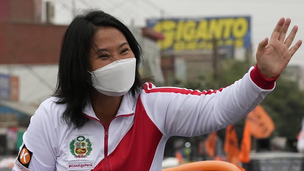 Die Rechtspopulistin Keiko Fujimori steht für eine neoliberale Wirtschaftspolitik und eine Sicherheitsstrategie der harten Hand.