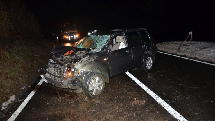 In Röschenz verunfallte in der Nacht auf Freitag eine Autofahrerin.