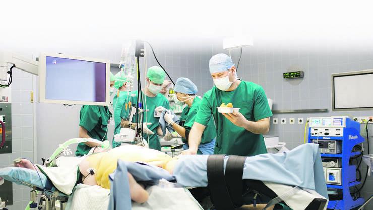 Im Operationssaal des Spitals Limmattal
