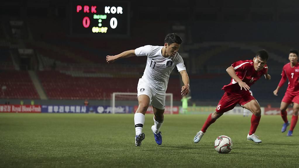 Nordkorea gegen Südkorea: Ein 0:0 ohne Zuschauer.