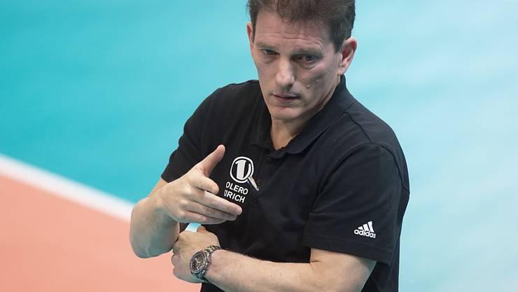 Musste mit Volero Zürich auch im Rückspiel des Champions-League-Viertelfinals eine 0:3-Niederlage hinnehmen: Coach Avital Selinger