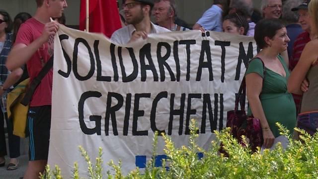 Demonstration vor der EU-Botschaft