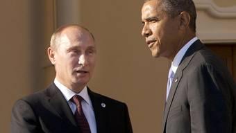 Putin und Obama in St. Petersburg im September 2013 (Archiv)