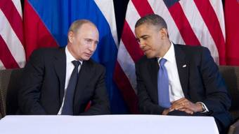 Wladimir Putin (l) und Barack Obama in Los Cabos