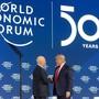 Schwätzchen mit den Mächtigen: Klaus Schwab empfängt Anfang Jahr zum zweiten Mal US-Präsident Donald Trump in Davos.