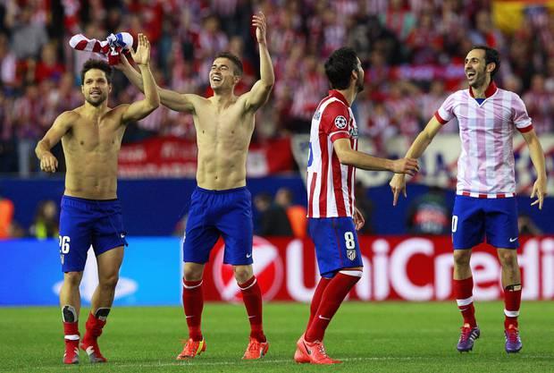 Die Freude ist riesig: Atletic Madrid steht seit 1974 erstmals wieder in einem Champions League Halbfinal.