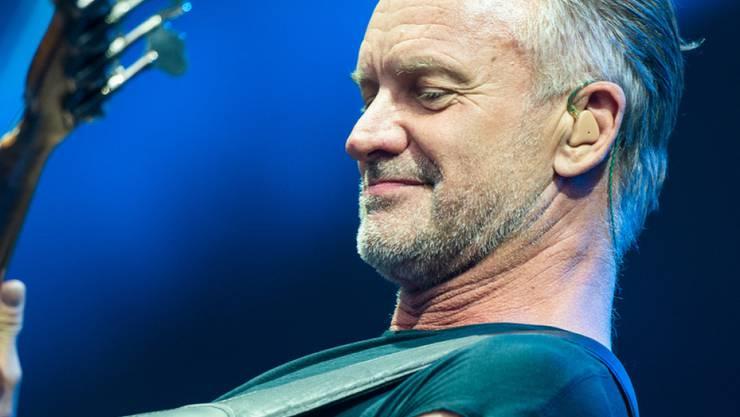 Der britische Musiker Sting eröffnet heute Abend als erster Headliner das 53. Montreux Jazz Festival. (Keystone/DPA/CHRISTOPHE GATEAU)