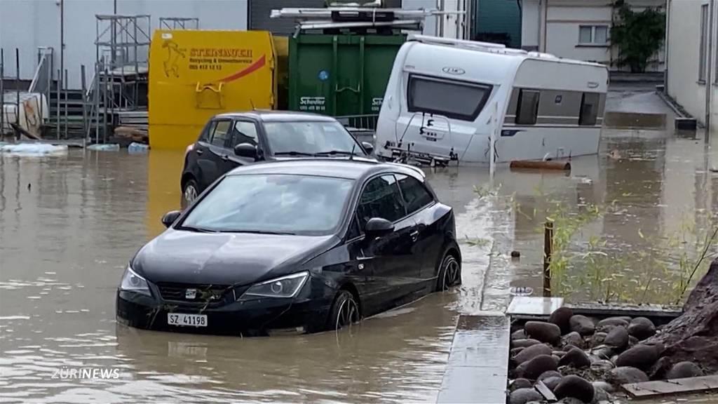 Unwetter in Einsiedeln führt zu Überflutungen