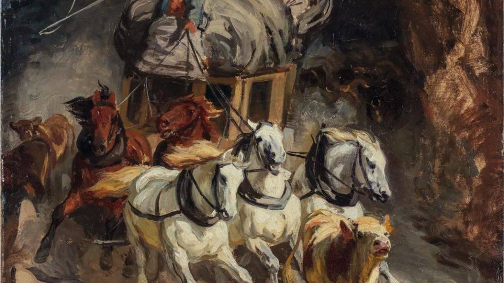 «Die Gotthardpost» von Robert Koller hat bei der Kunst-Auktion der Berner Galerie Kornfeld doch noch einen Käufer gefunden. Das Gemälde gilt als Ikone der Schweizer Malerei des 19. Jahrhunderts.