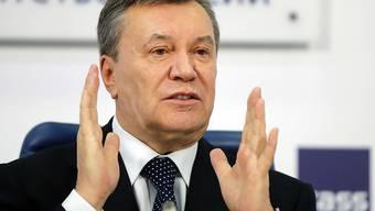 Der ukrainische Ex-Präsident Viktor Janukowitsch hat nach eigenen Worten Russland nicht um eine Entsendung russischer Truppen zur Wiederherstellung der gesetzlichen Ordnung gebeten.