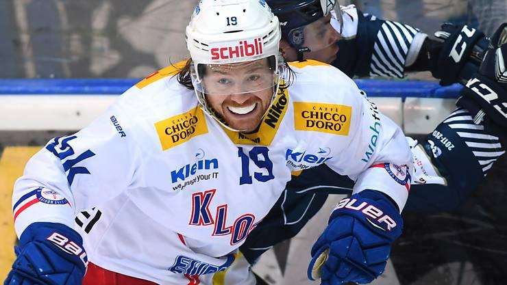 Captain Steve Kellenberger (vorne) erzielte den Siegtreffer für Kloten