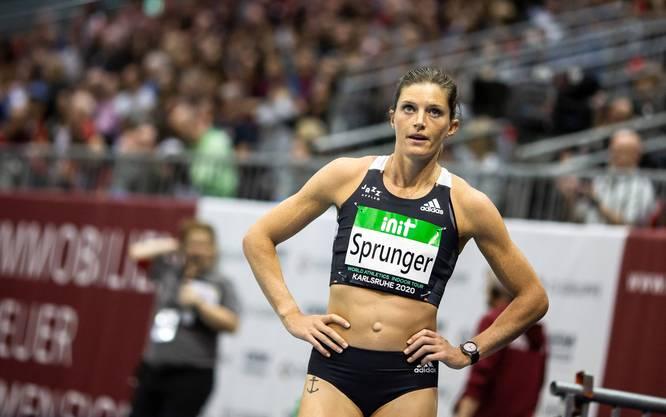 Lea Sprunger startet an der Schweizer Meisterschaft über 60 m.