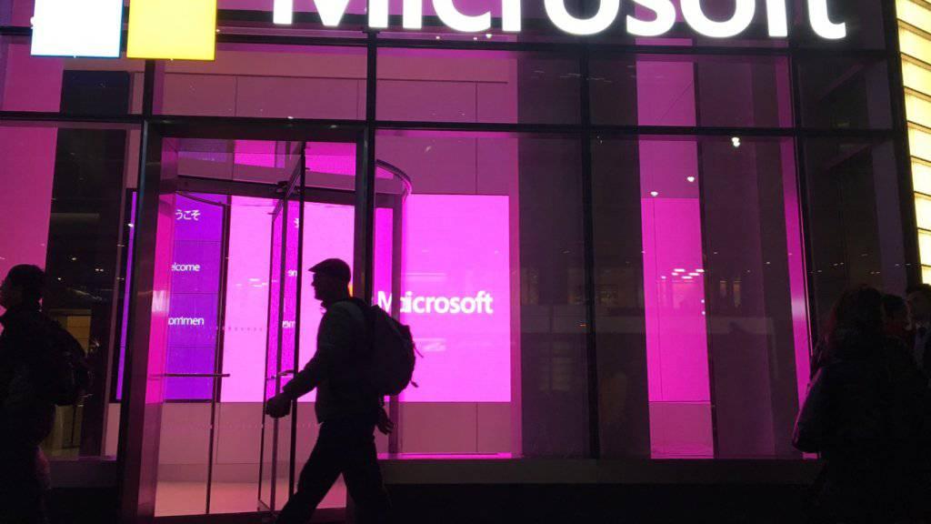 Microsoft-Büro in New York: Das Cloud-Geschäft um die Plattform Azure treibt den Software-Konzern an.