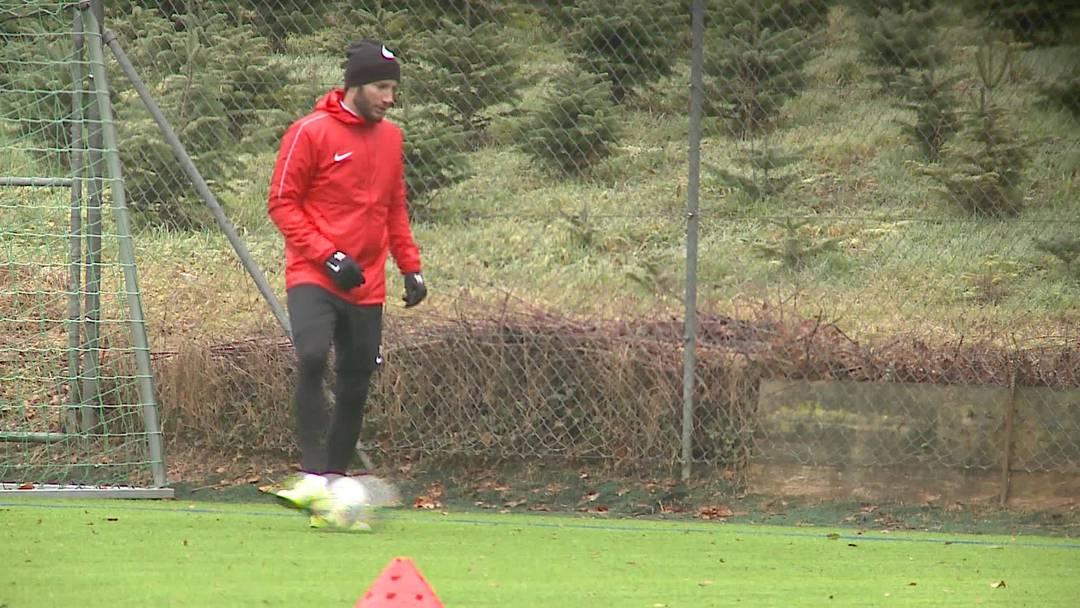 Erstes Training von Shkelzen Gashi nach der Rückkehr zum FC Aarau