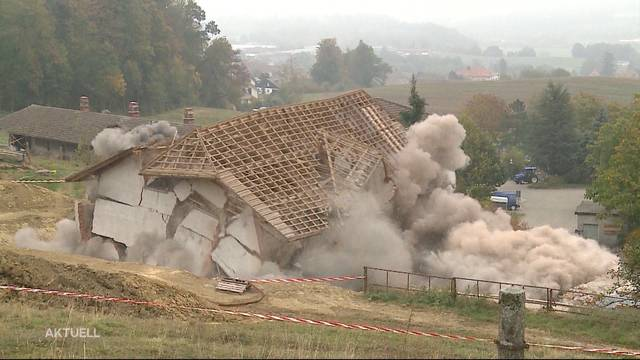 Alte Mühle in Dettenwil wird gepsrengt