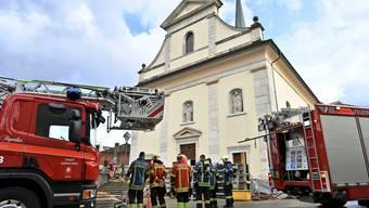 Feuerwehraufgebot anlässlich des Brandes am Dienstag.