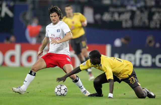Raphael Wicky im Dress des Hamburger SV, wo er von 2002-2007 spielte.