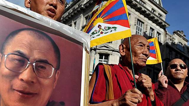 Tibeter protestieren in London