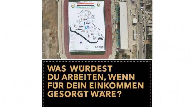 Ende Februar knackte das Plakat eines Irakers den Weltrekord und überholte die Schweizer Idee. Foto: ZVG/GUINNESS WORLD RECORDS