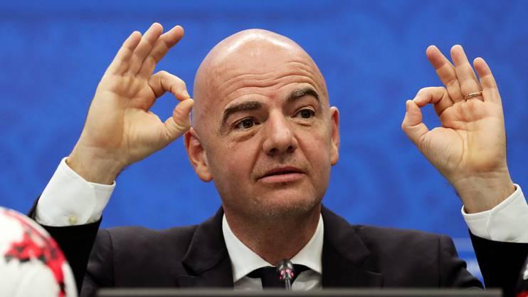 Den Chef freuts: Fifa-Präsident Gianni Infantino kriegt seine WM mit 48 Teams.