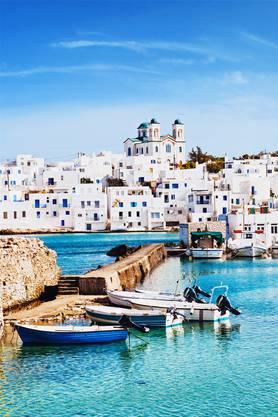 Hafenstädtchen auf der griechischen Insel Paros: Naoussa.