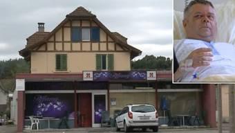 Die Kontaktbar «Tiffany» in Reinach: Hier wurde der Menziker Gemeinderat Jürg Rubin spitalreif geschlagen.