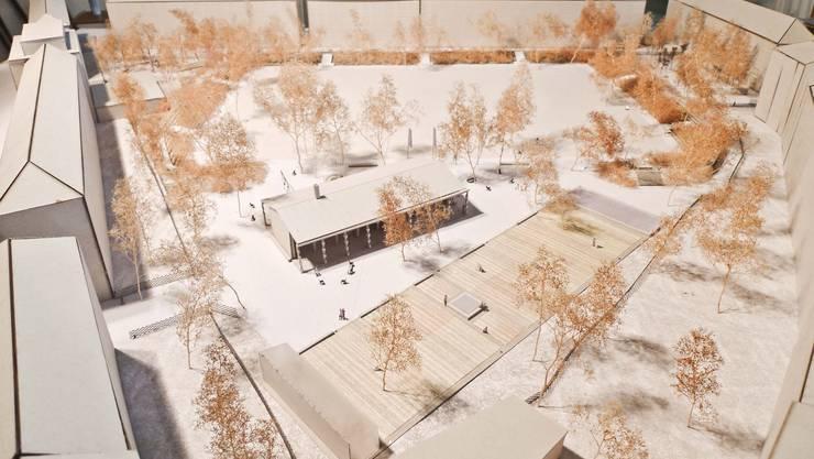 """Das Siegerprojekt """"Stranger than paradise"""" - so soll der Landhof in Zukunft aussehen."""