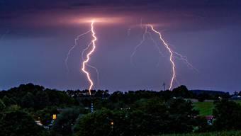 Fast 110'000 Blitze entluden sich über Zentraleuropa.